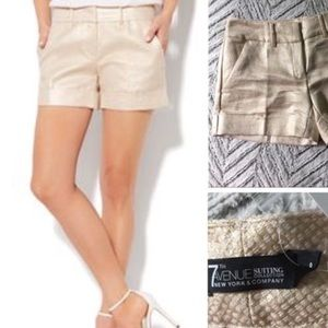 7th AVENUE New York & Co. Gold Shorts